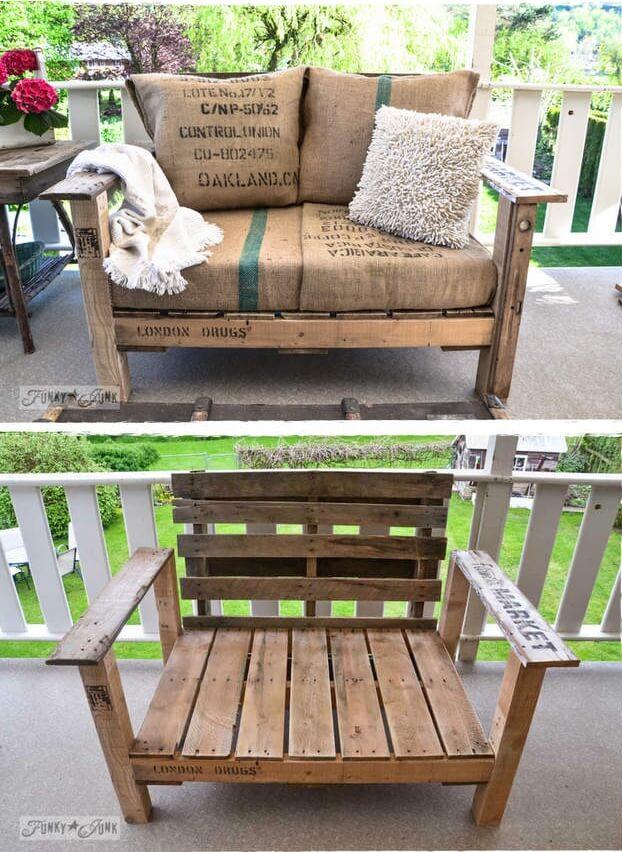 Creatief met pallets 37 pallet idee n - Idee van deco tuin buiten ...