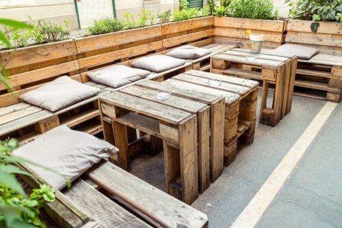 Groot loungeset van pallets