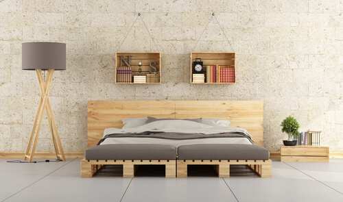 Pallethouten bed modern