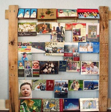 Originele manier om foto's op te hangen