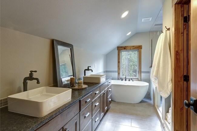 7. Rustieke badkamer