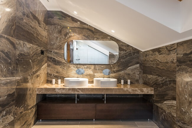 9. Rustieke badkamer