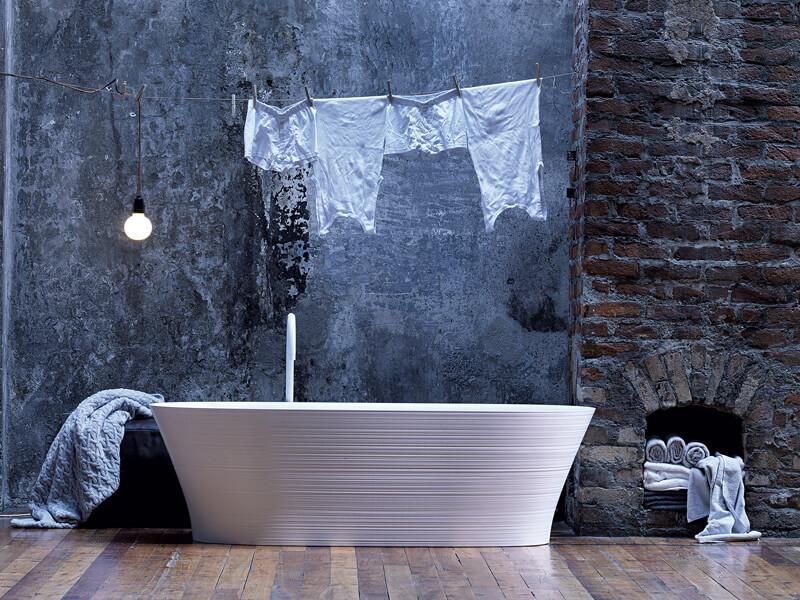 Badkamertegels met sterke structuur