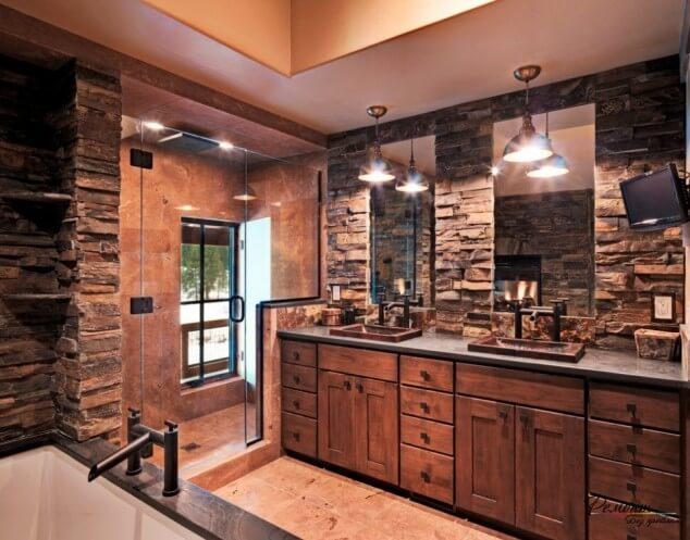 Rustieke badkamer - 11 prachtige voorbeelden