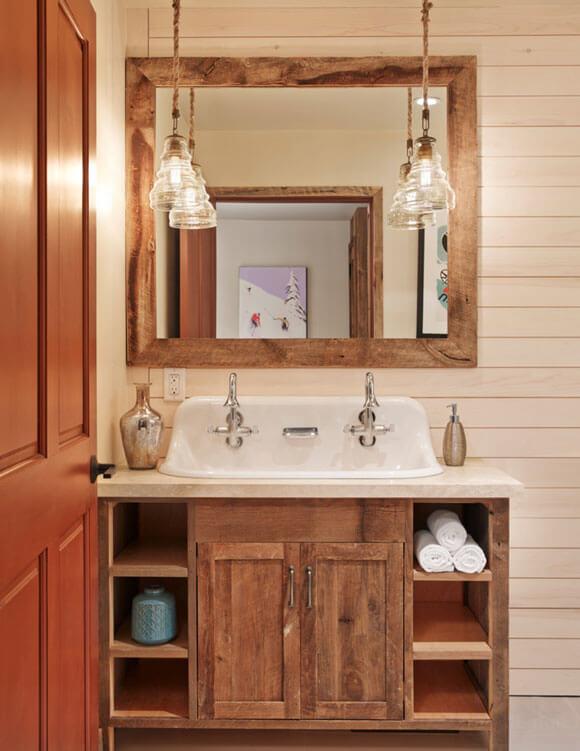 Rustieke badkamer 11 prachtige voorbeelden - Rustieke badkamer meubels ...