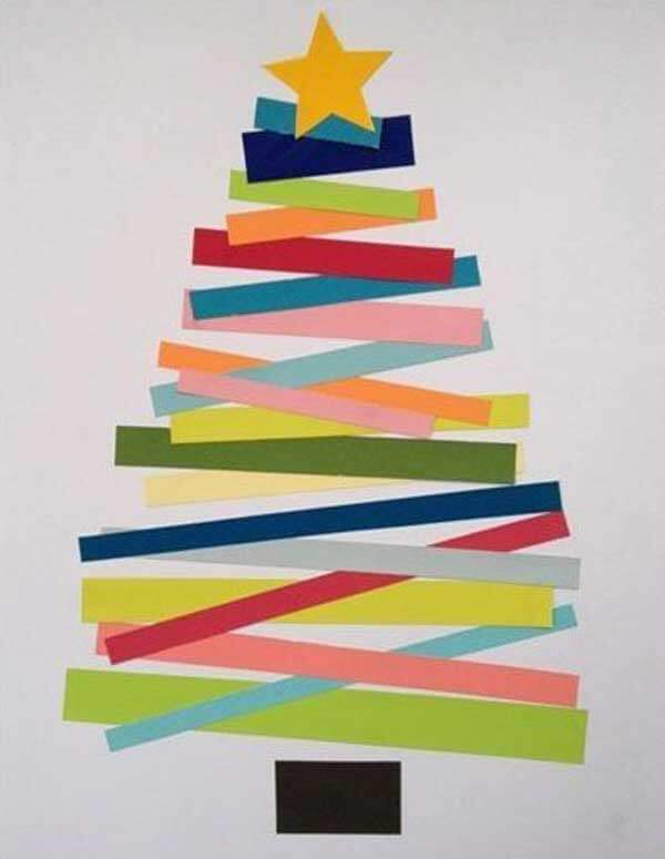 Kerstdecoratie Papieren kerstboom