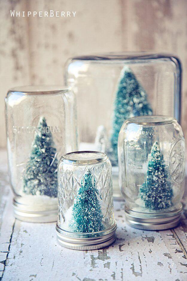 Kerstdecoratie mini boompjes