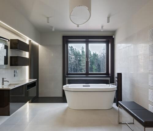 Marmeren badkamertegel