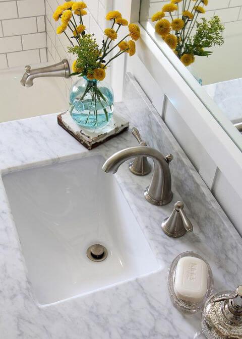 Bloemen badkamer