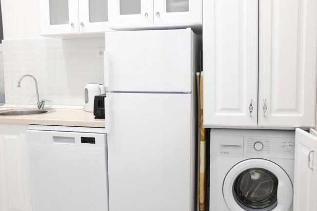De wasmachine  droger ombouw