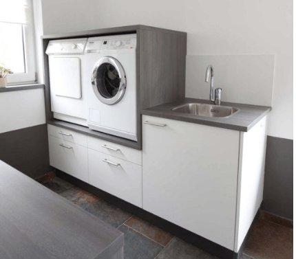 Wasmachine op hoogte