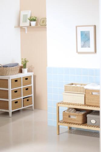 17. Kastjes voor losse spulletjes in de badkamer