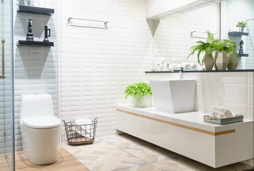 5. Witte badkamer inrichting