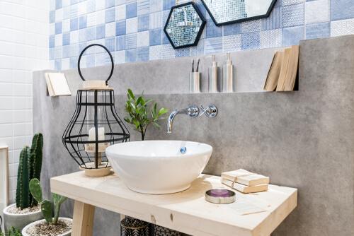 7. Rustige badkamer accessoires