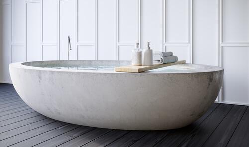 9. Groot bad in de badkamer