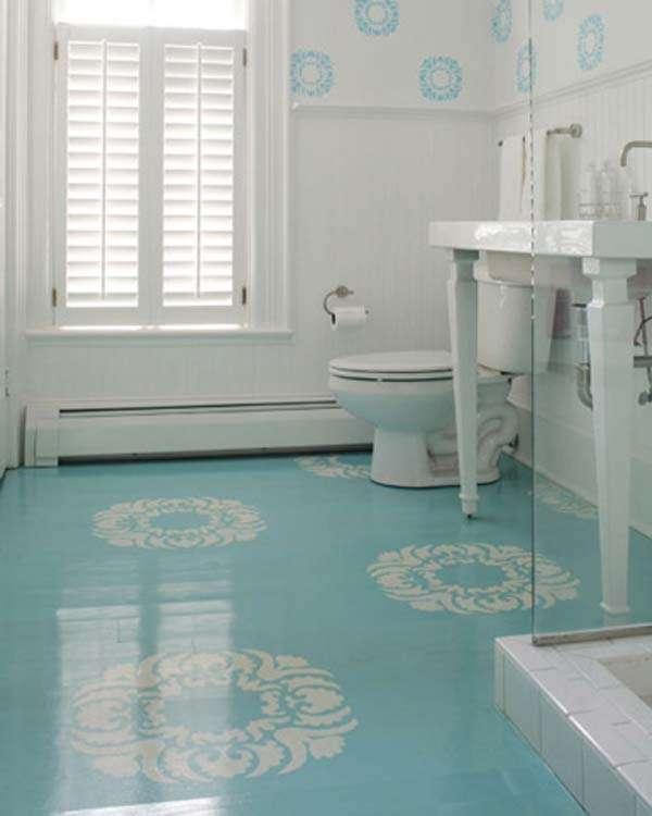 Kleine badkamer 1 kleur