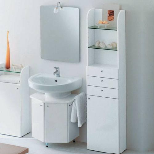 Kleine badkamer- kleinere meubels
