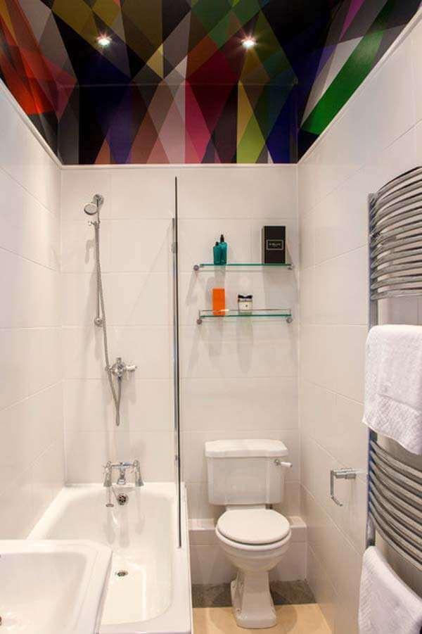 Kleine badkamer- plafond
