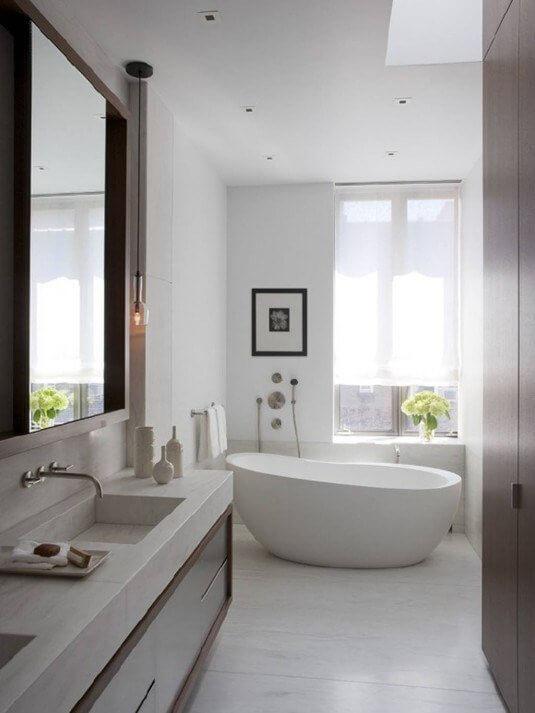 Kleine badkamer- wit