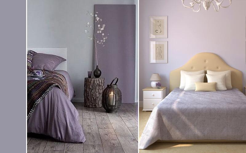 slaapkamer paars grijs