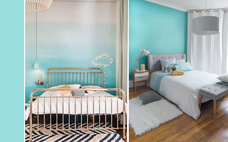 ... : Slaapkamer idee blauw wit nl loanski badkamertegels felle kleuren