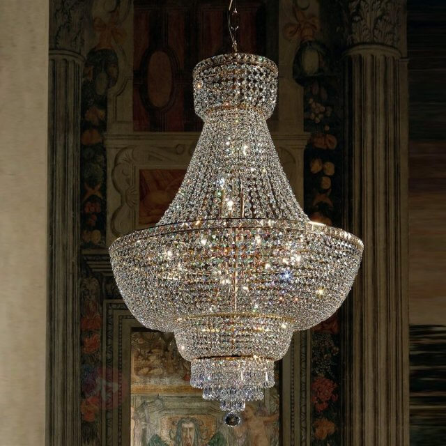 kristallen hanglamp