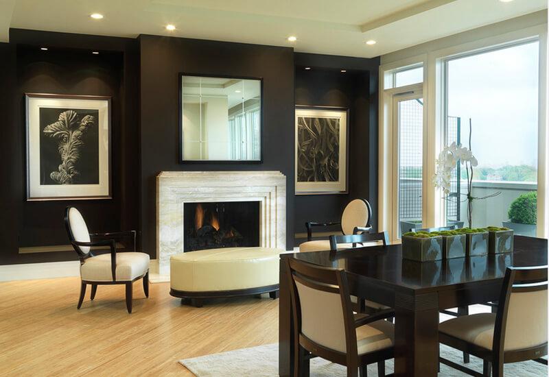 Woonkamer Zwarte Muur : Interieur combinaties met een zwarte muur ik woon fijn