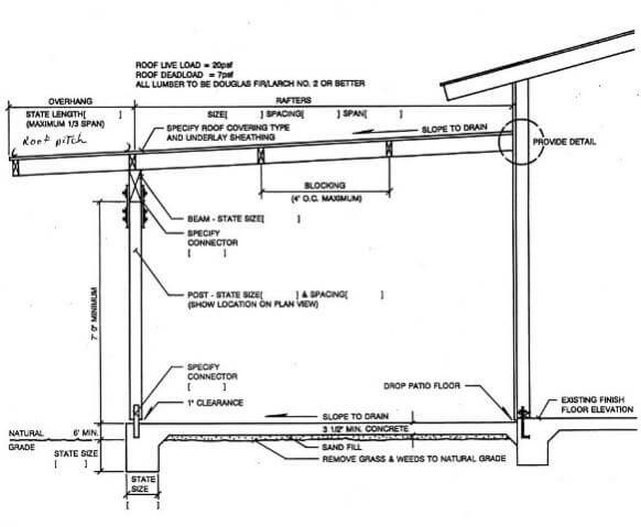 Build Custom Pole Barn Plans further Pergola2 dining mission wooden los angeles as well Can Floor Joists Take The Place Of Rafter Ties together with Modern Summer Retreat In Wood And Glass Haus Hainbach likewise American Barn. on open beam carport building plans