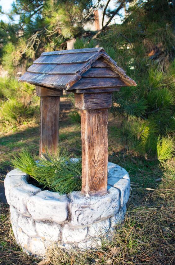 Waterput in tuin