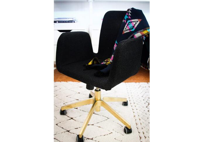 Gouden bureaustoel