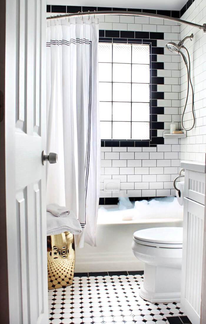 Klein maar stijlvol vintage badkamer