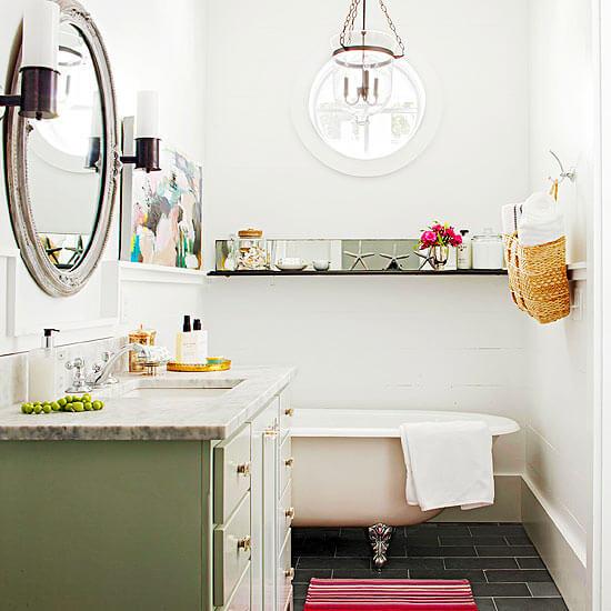 Kleine badkamer vrijstaand bad vintage badkamer