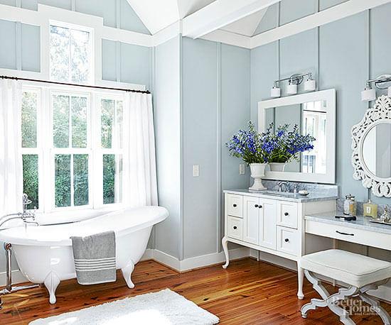 Landelijke sfeer vintage badkamer