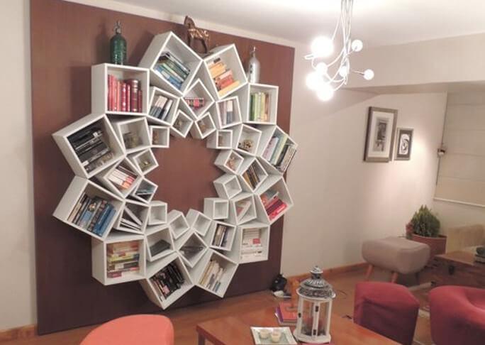 mandala boekenkast with boekenkast hangend