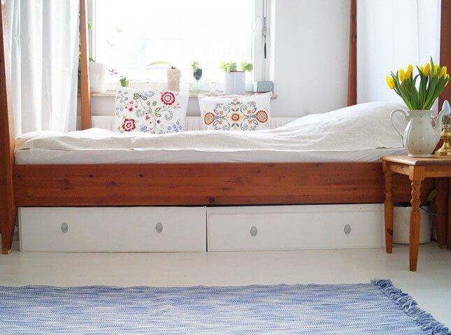 Opslag onder het bed