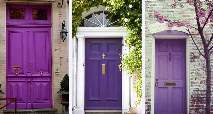 Paarse deuren