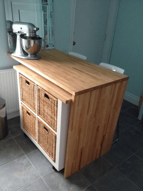 Rolbaar keukenkastje