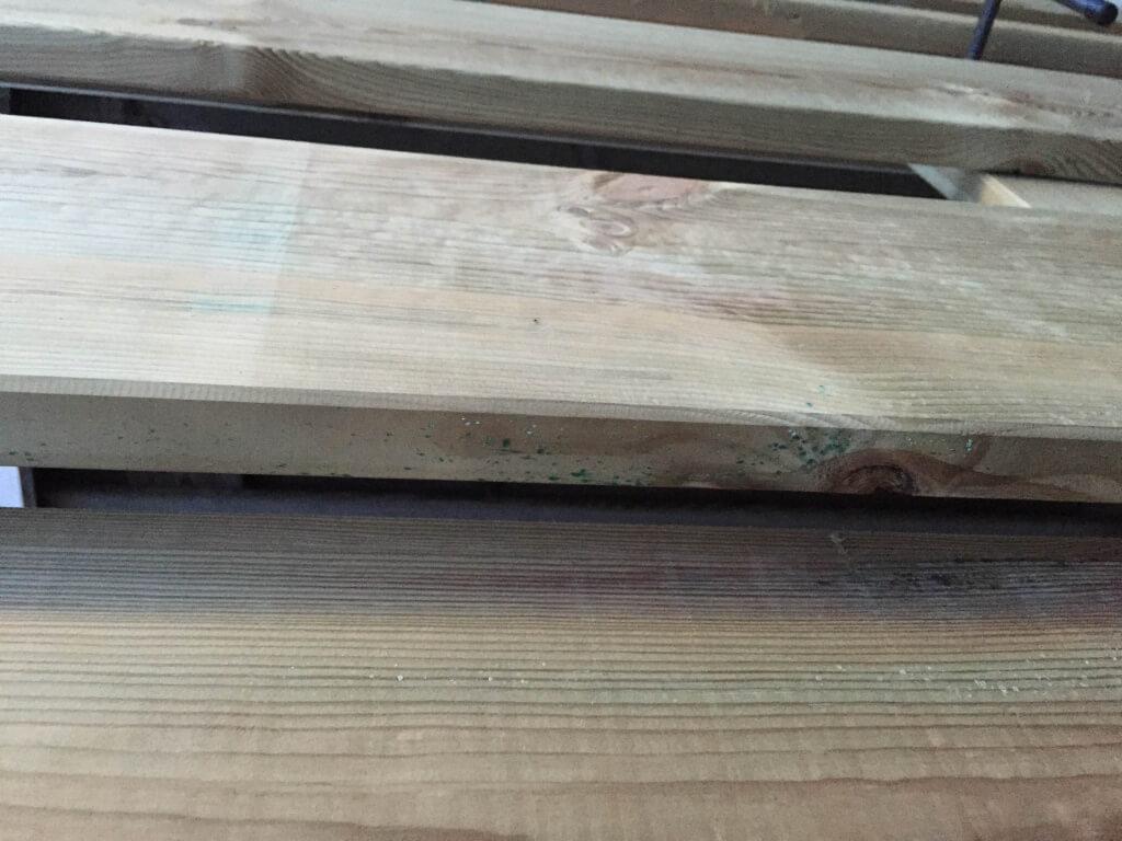 Steigerhoutenplanken poort