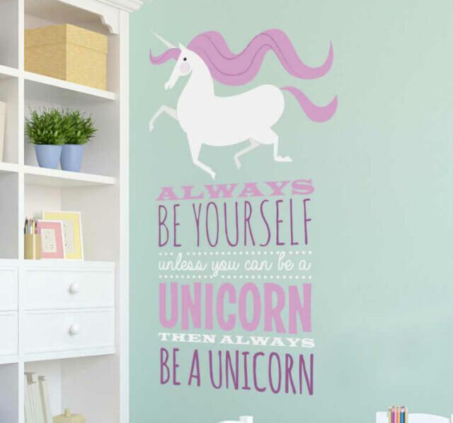 Be yourself muursticker