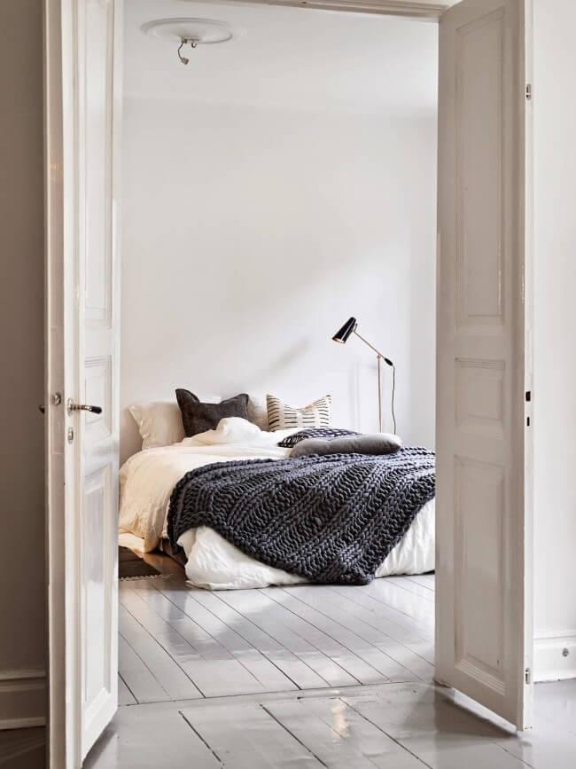 Bed zonder frame