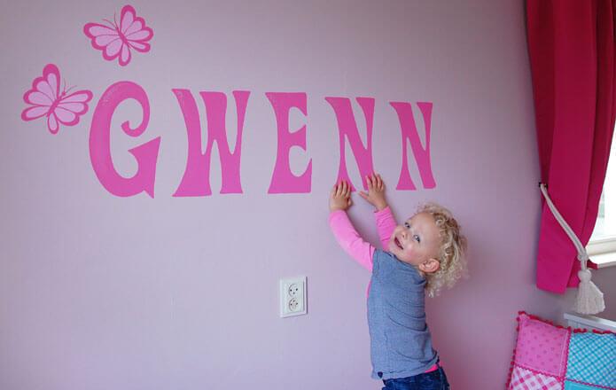 Gwen - bimmuurschildering
