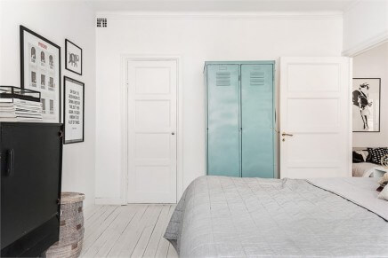 Scandinavische slaapkamer - industriele kast