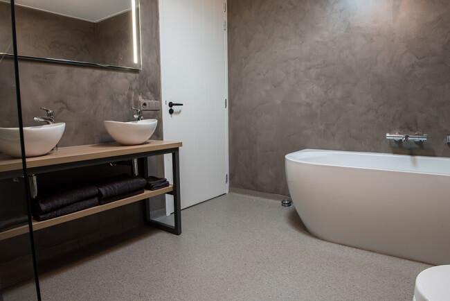 7. Industriële inrichting in de badkamer