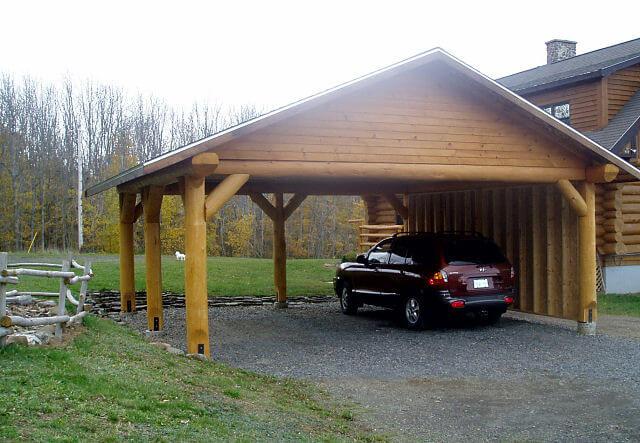 Zelf een carport met plat dak aan je huis bouwen for Zelf een huis bouwen wat kost dat