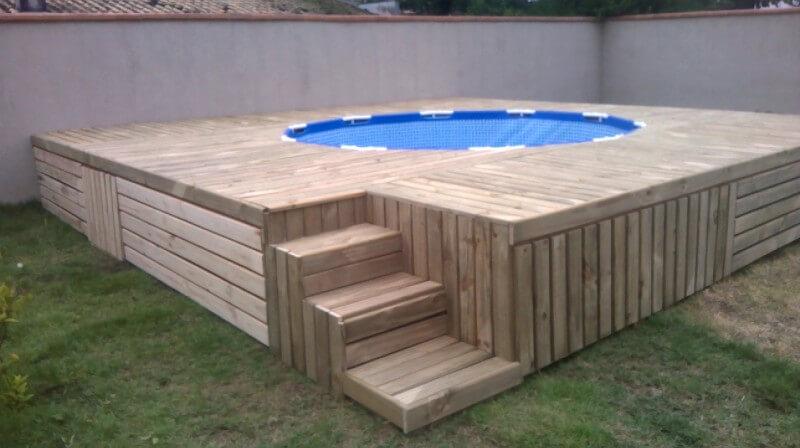 DIY pallet zwembad - 101pallets.com