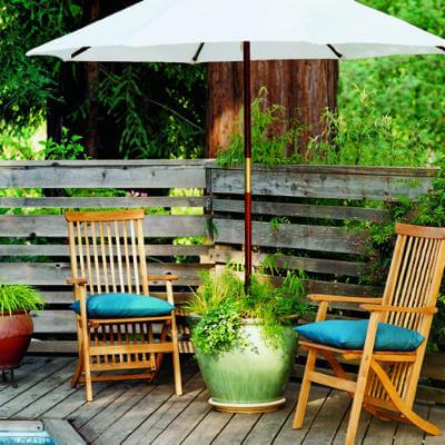 DIY parasolhouder - sunset.com