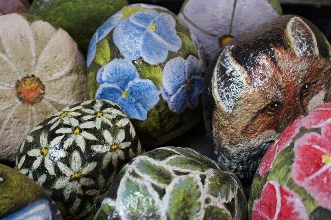 Geschilderde stenen