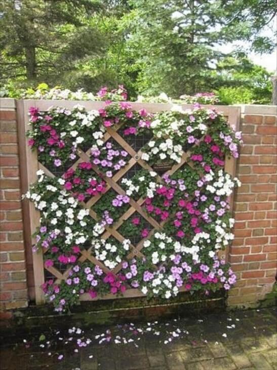 Plantenmuur - whimsicalhomeandgarden.com