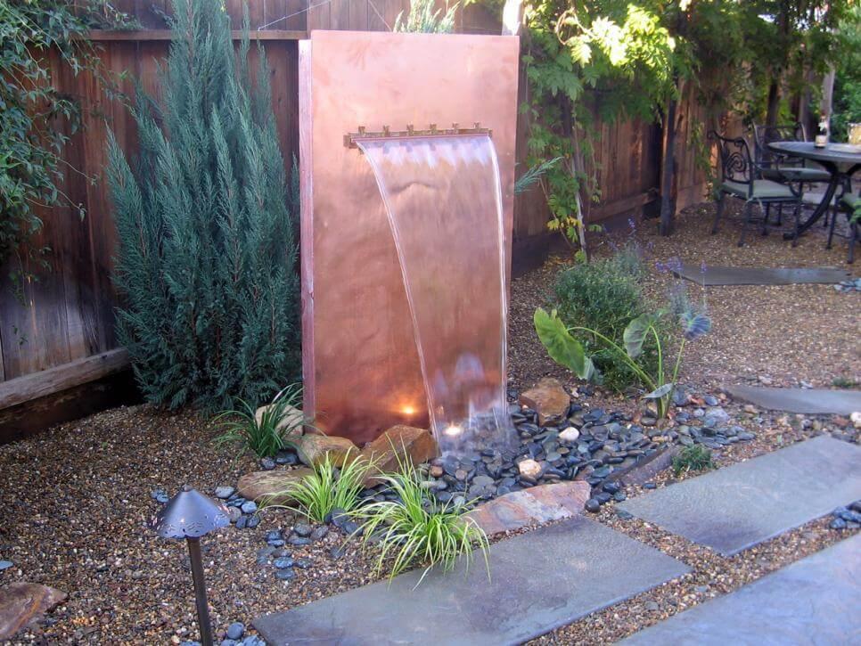 metalen waterval - beesandroses.com