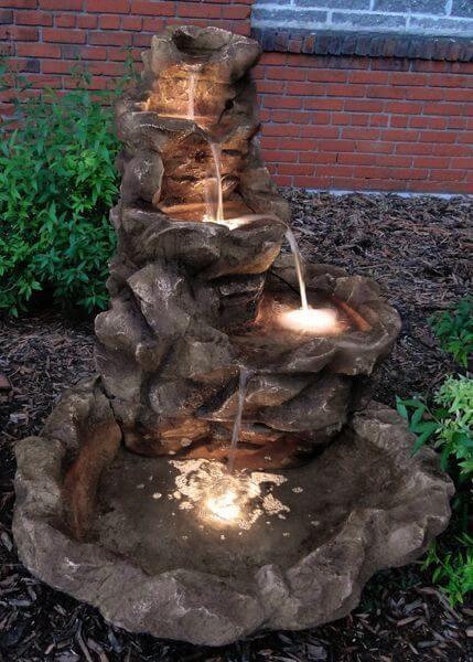 verlichte waterval - homedepot.com